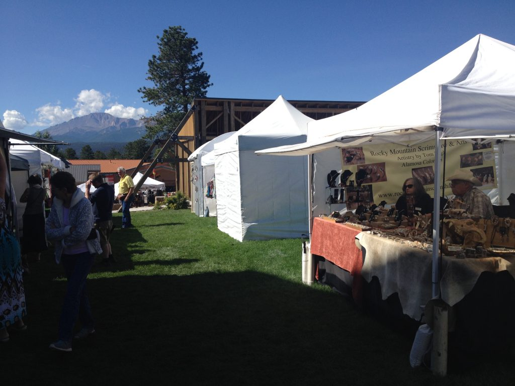 our booth at Mountain Artist Festival in woodland park
