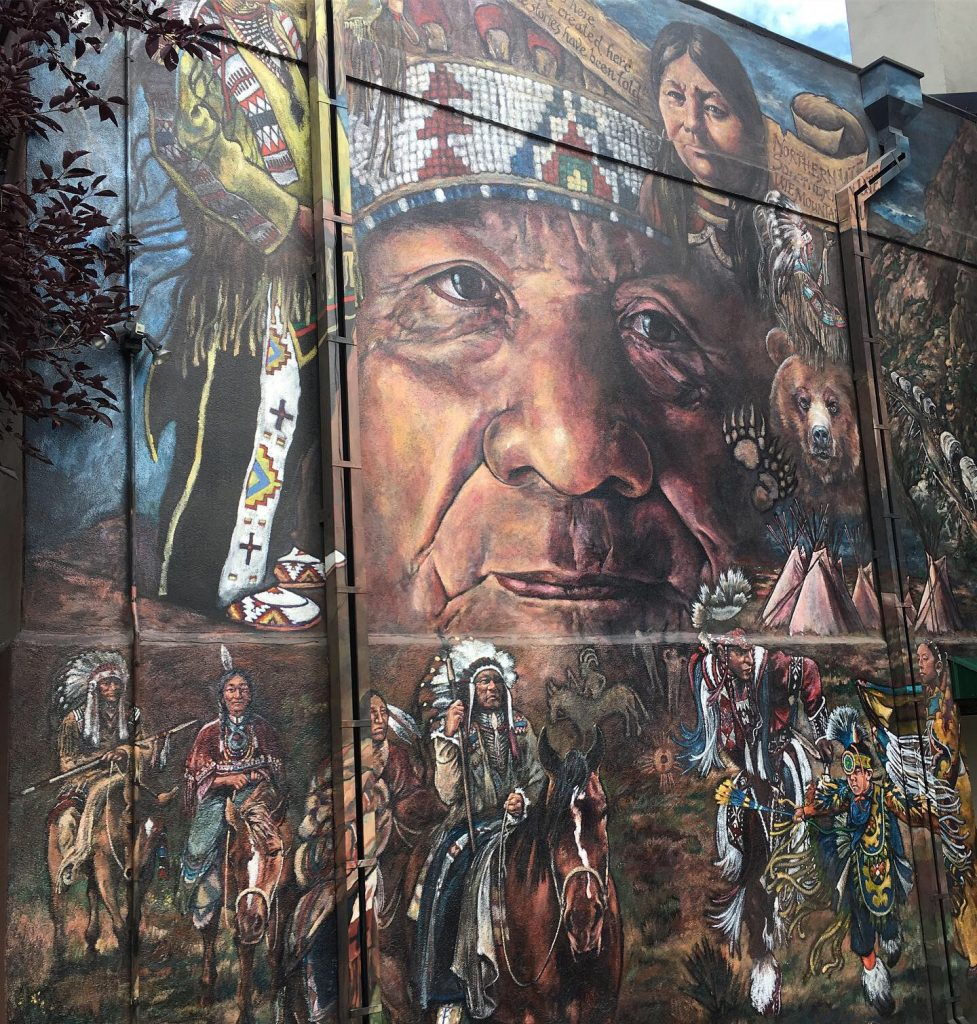 Wall art on the Ute Pass Cultural Center.