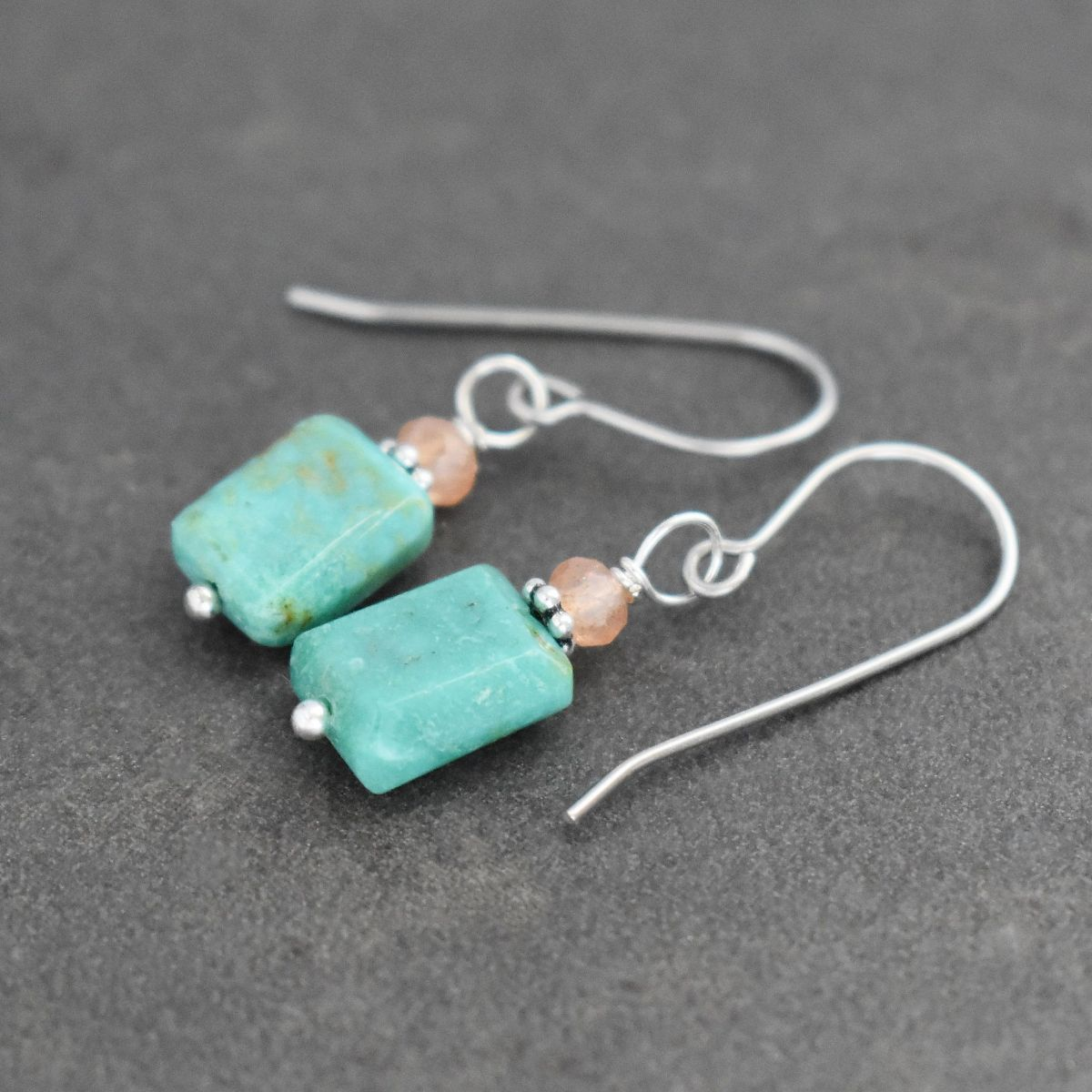 Sunstone and Turquoise Earrings