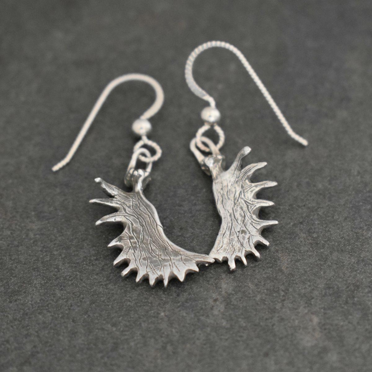 Dalnity Silver Moose antler earrings