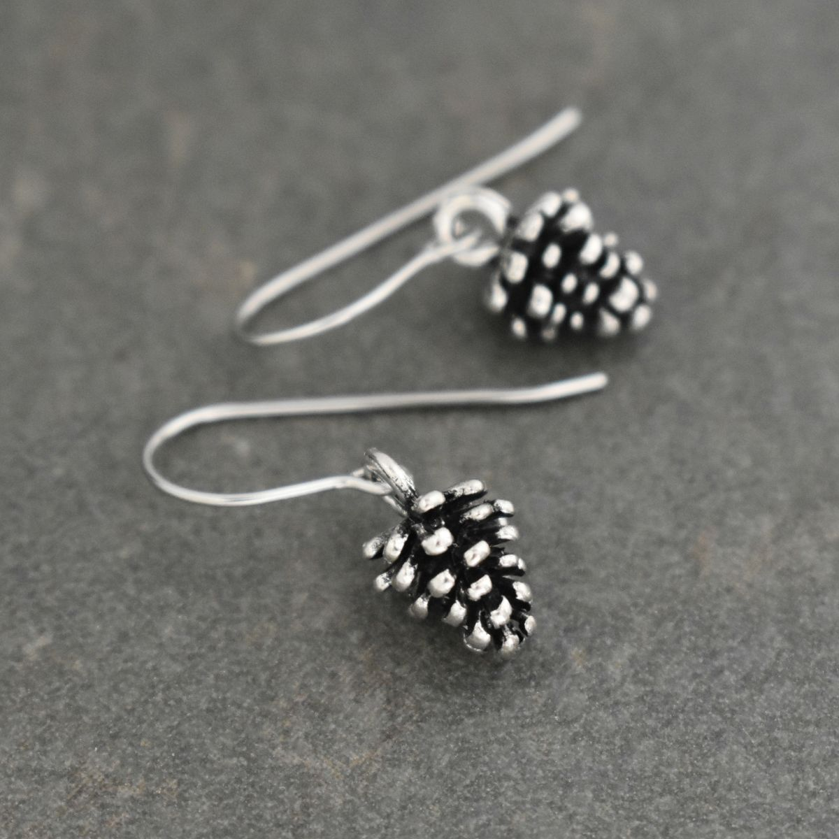 Pewter Pine cone earrings