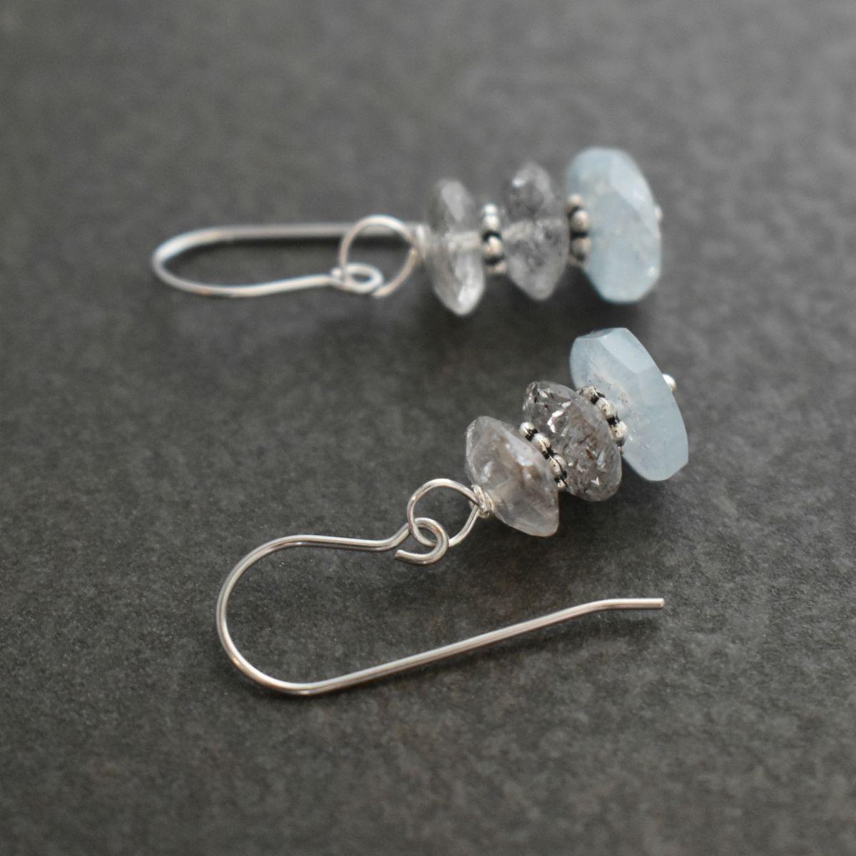 handmade aquamarine earrings