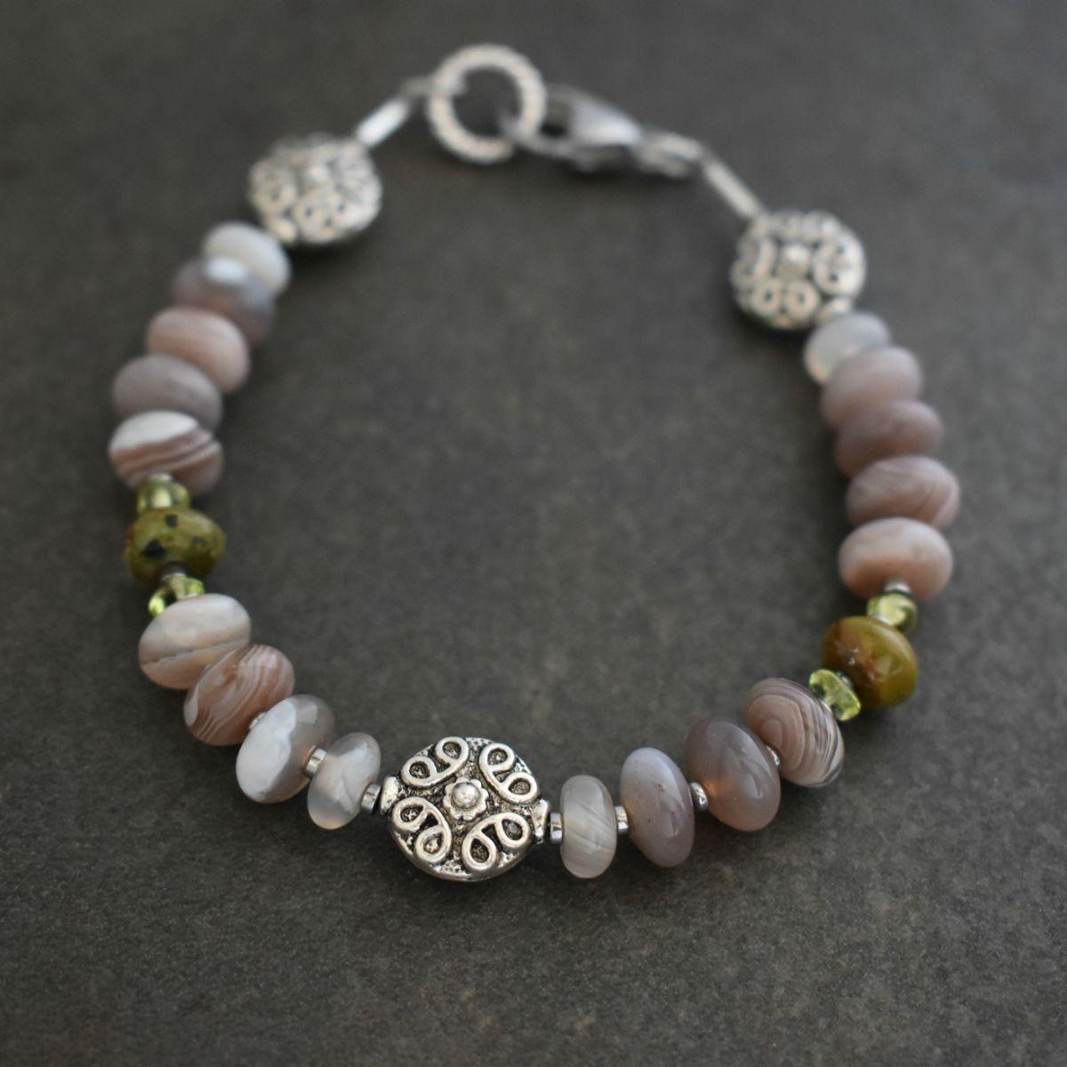 Botswana Agate stackable Bracelet