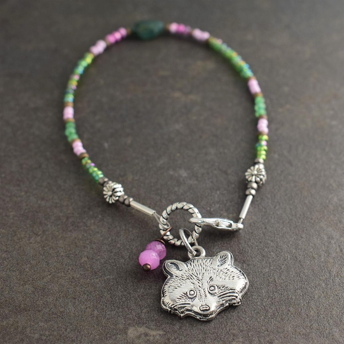 dainty raccoon bracelet