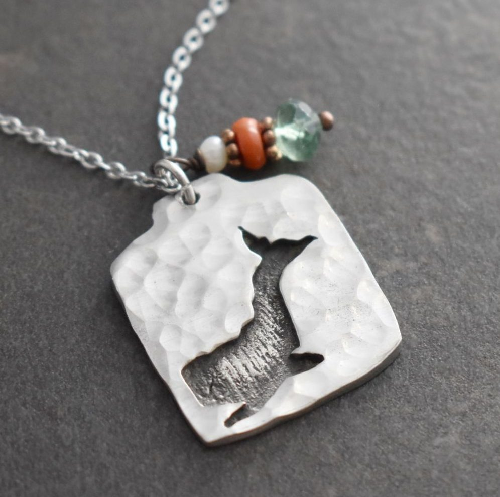 Blue whale with coral & green fluorite