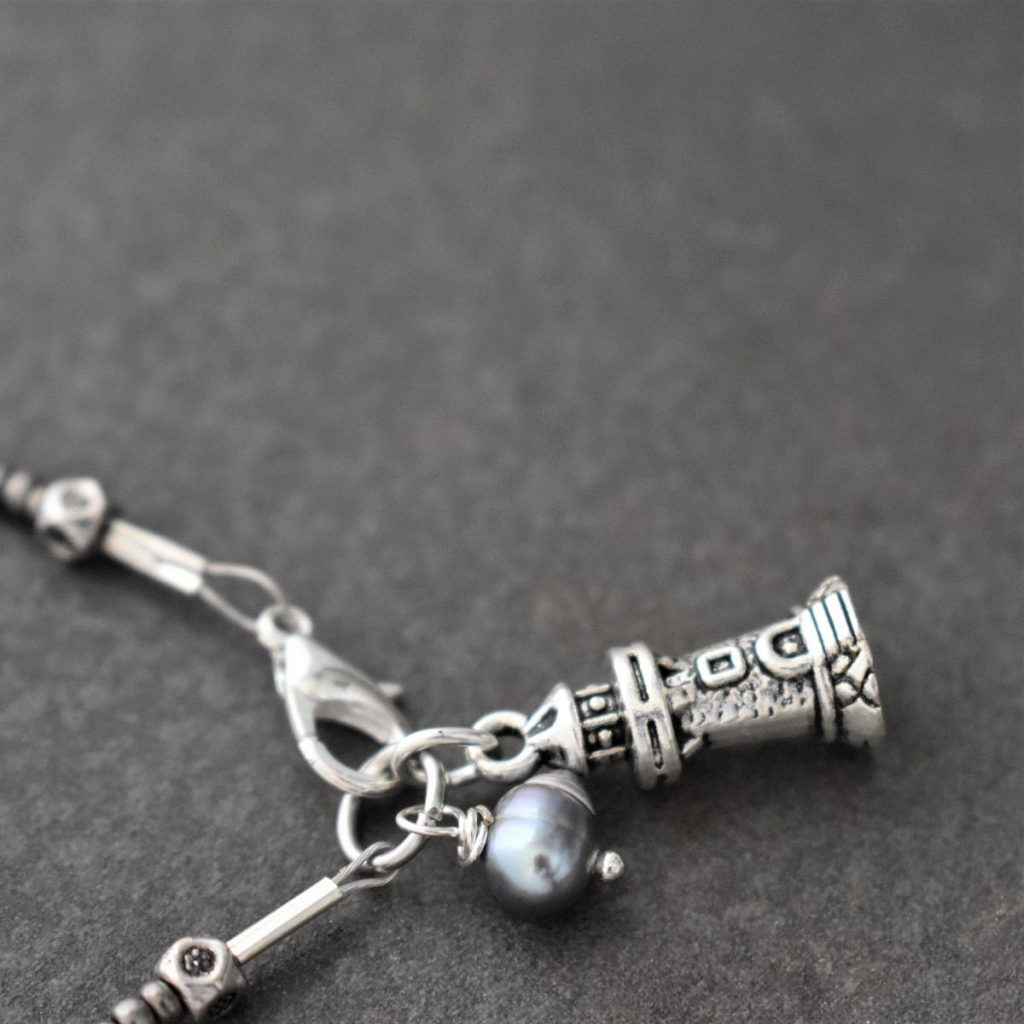 Small beaded Light house Bracelet