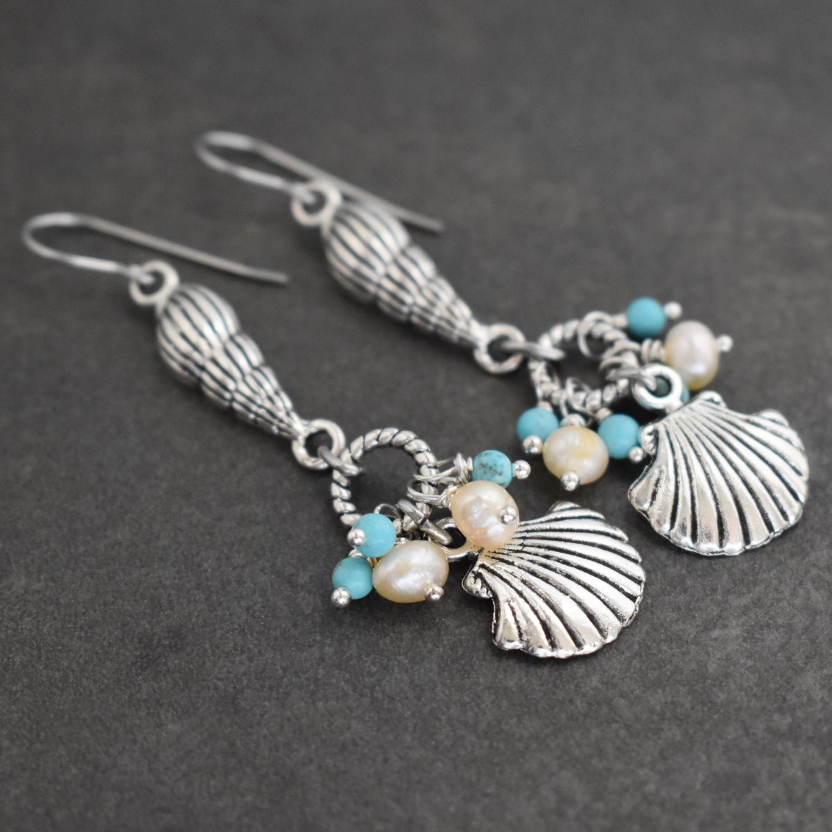 Mermaid Seashell Earrings