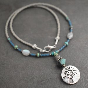 Beaded Chickadee Necklace