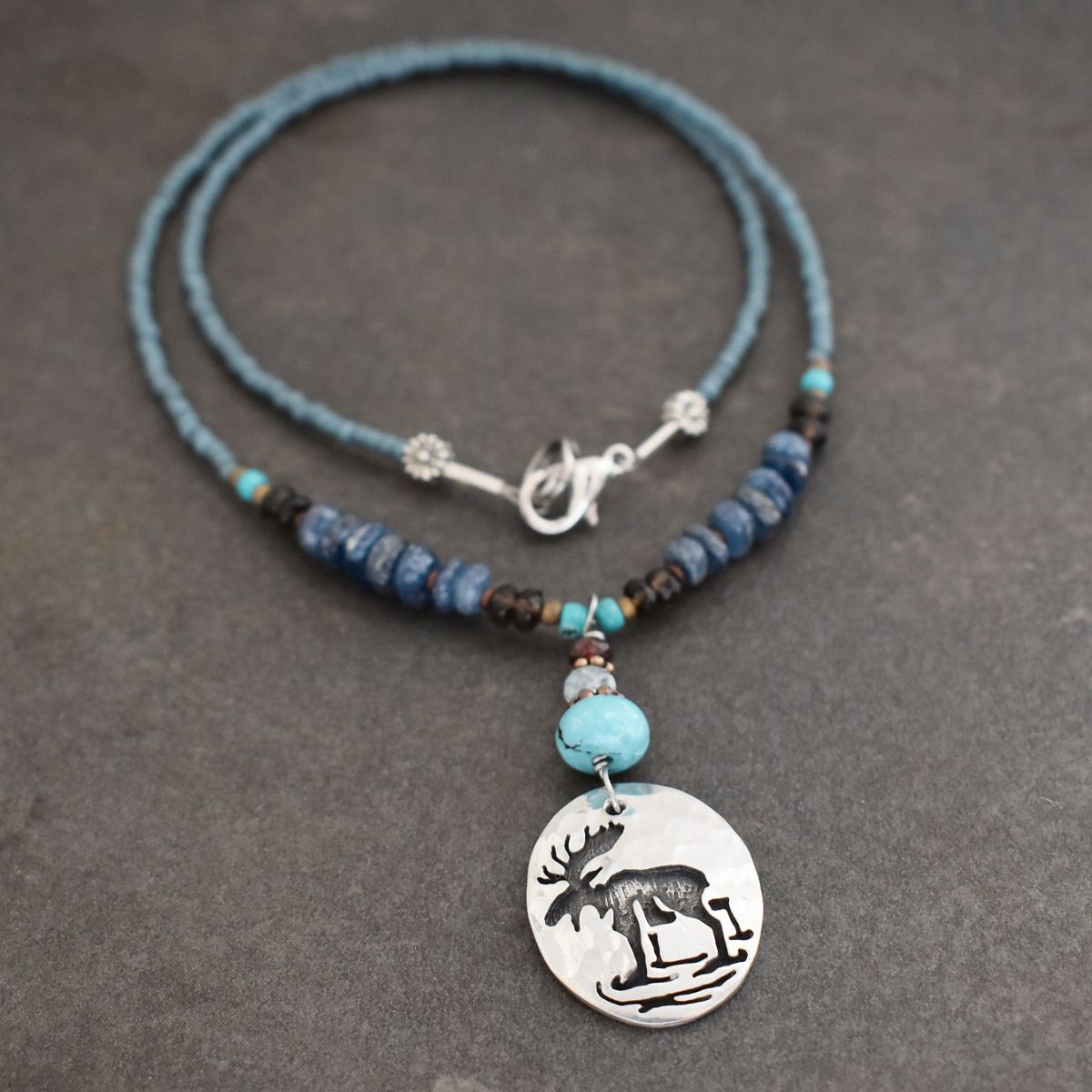 Beaded Moose Necklace