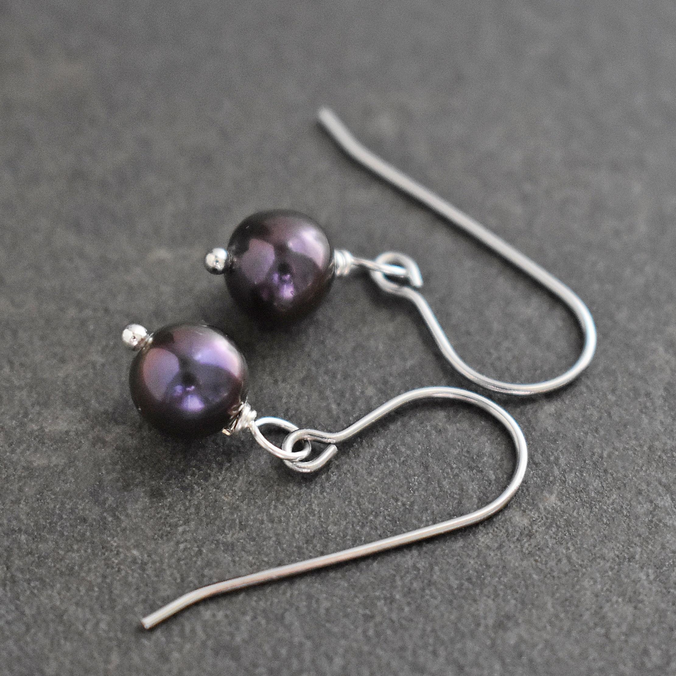 dainty peacock pearl earrings