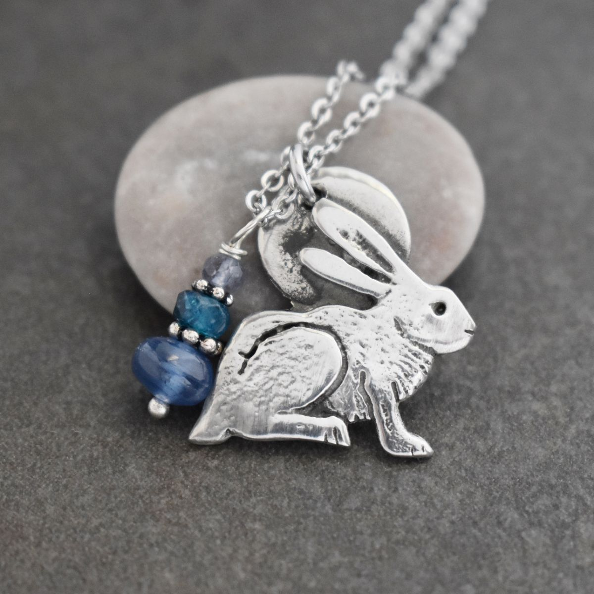 Rabbit Necklace with Kyanite