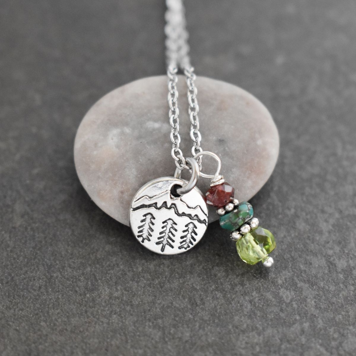 Mountain Necklace with Peridot