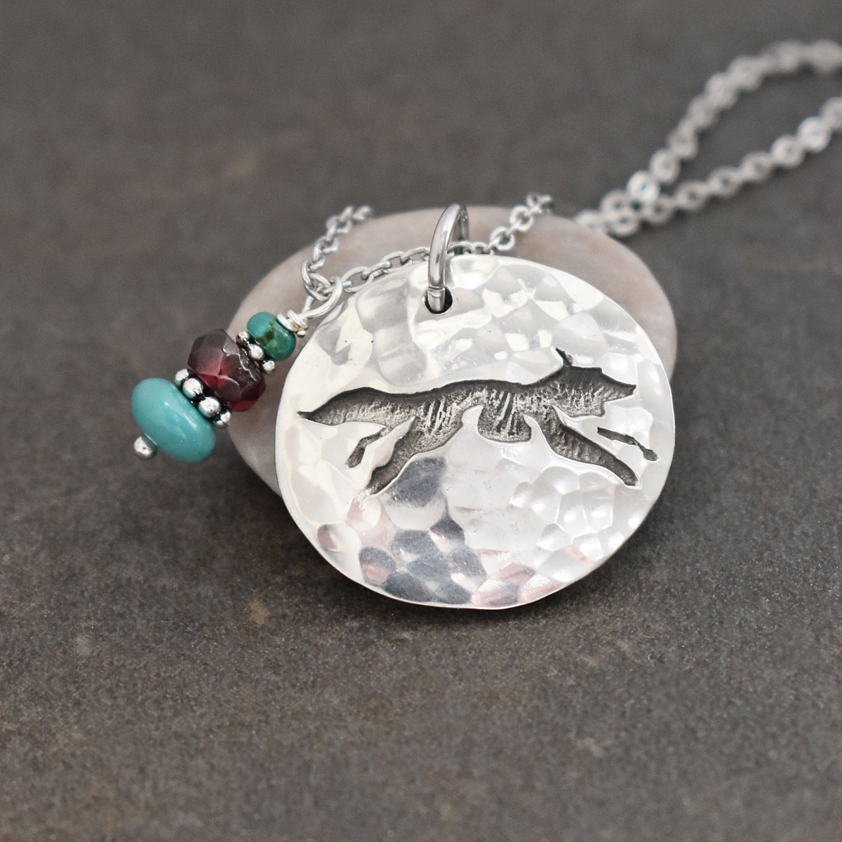 Fox Necklace with Turquoise