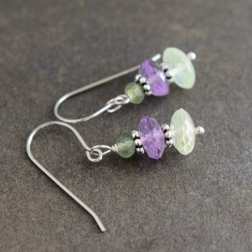 Pastel green stone earrings