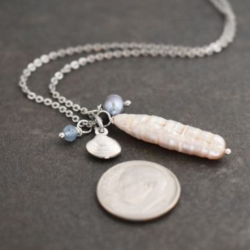 Atlantic Surf Clam Seashell Necklace