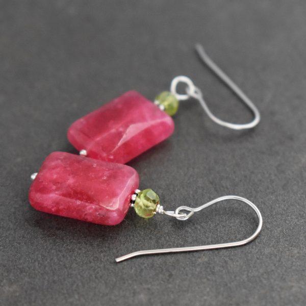 Peridot & Ruby Jade Earrings
