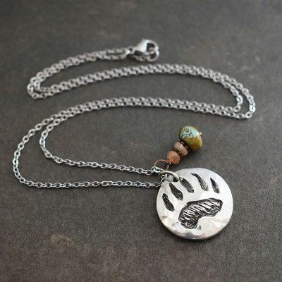 bear track necklace
