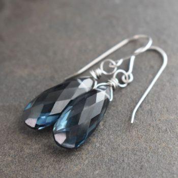 London Blue Topaz Quartz Drop Earrings