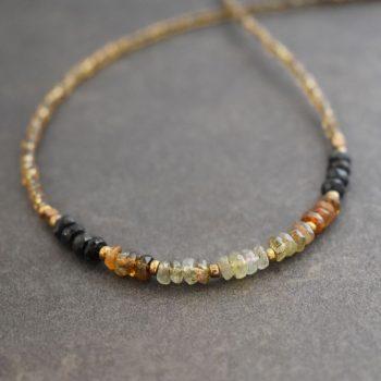 Beaded Tourmaline Necklace