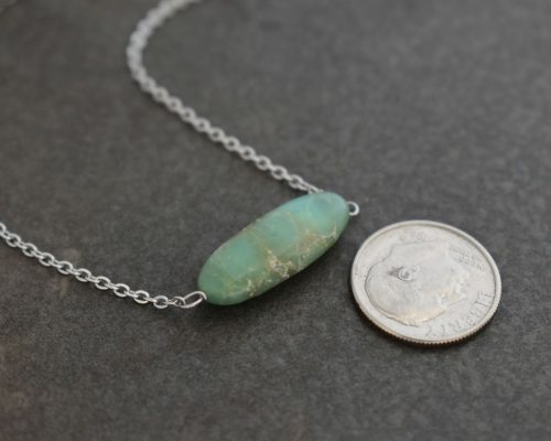 Chrysoprase stone pendant