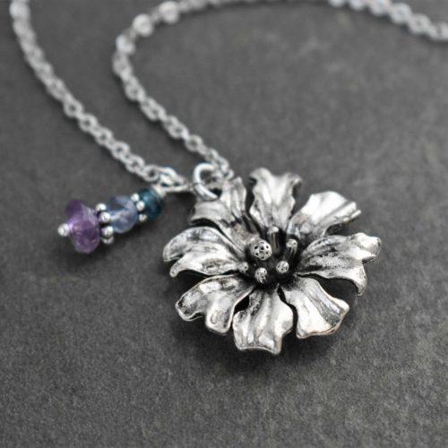 Cornflower Necklace