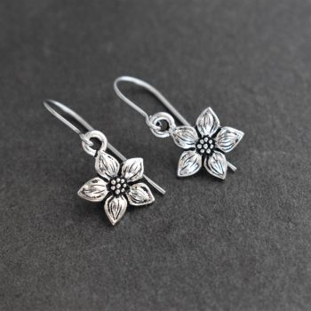 Silver Columbine earrings