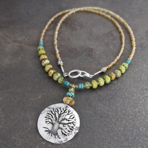 Beaded Oak Tree Necklace
