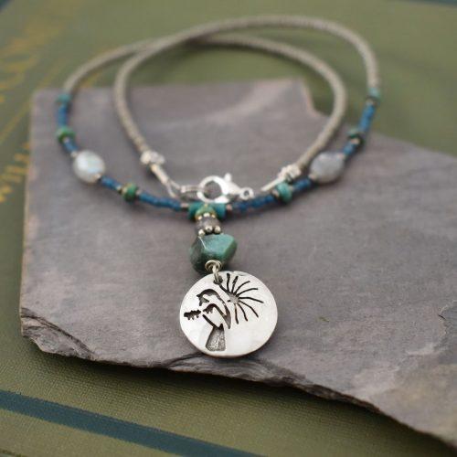 Beaded Chickadee Necklace