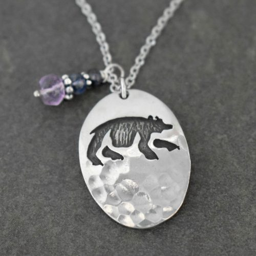 Silver Bear Charm Necklace