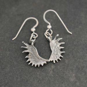 Sterling silver Moose antler earrings