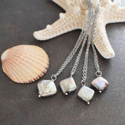 Fish bone necklace