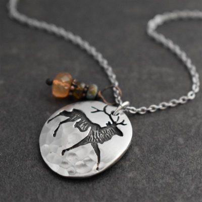 Elk Charm necklace