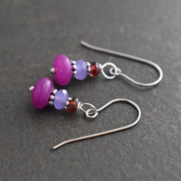 Garnet, Lavender, Violet jade earrings (2)_result