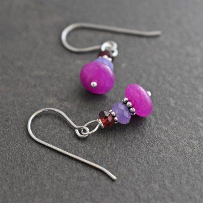 Garnet, Lavender, Violet jade earrings (3)_result