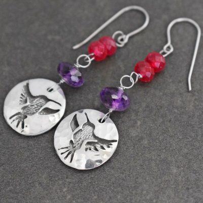 Hummingbird Gemstone Earrings