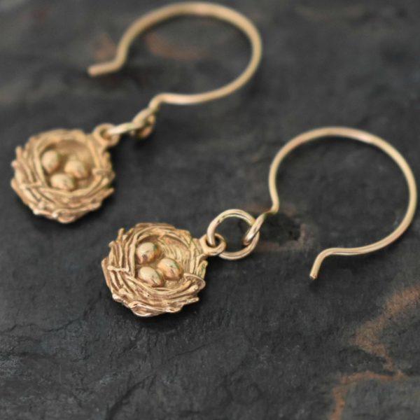 Gold Nest earrings