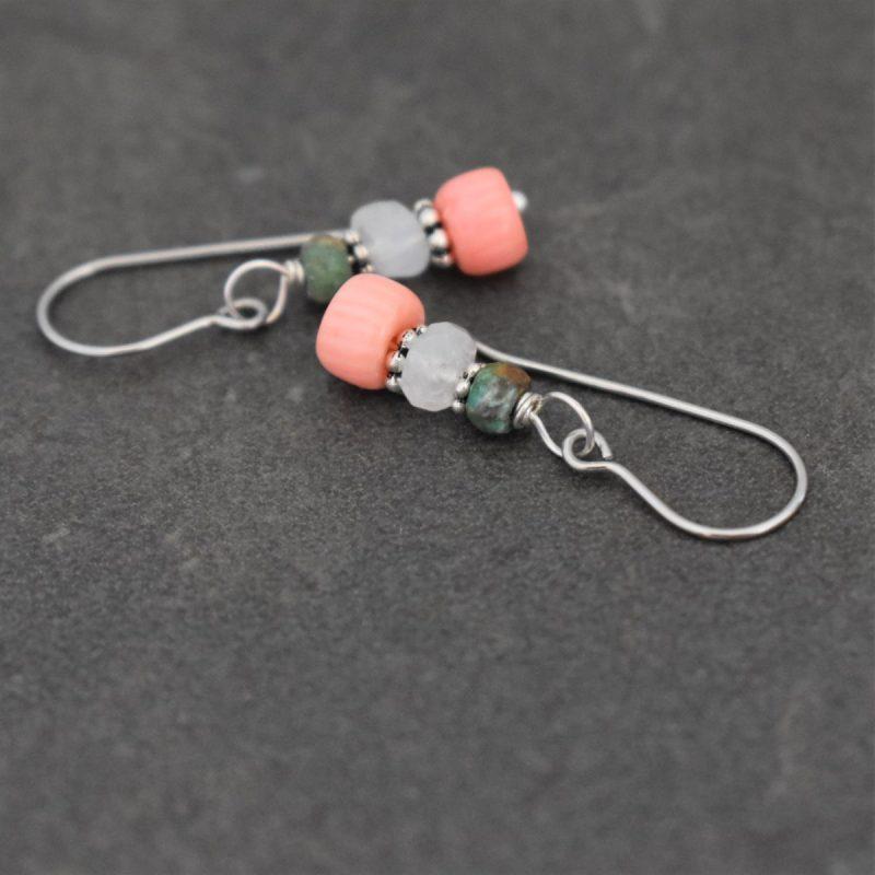 Handmade Delicate gemstone earrings