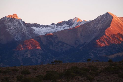 colorado mountain sunrise