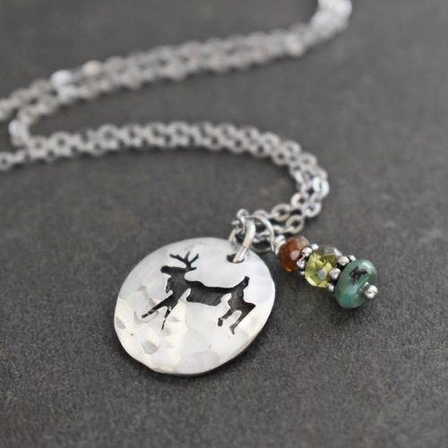 Jumping Deer with Turquoise