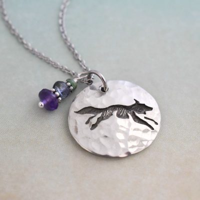 Little fox Gemstone Necklace