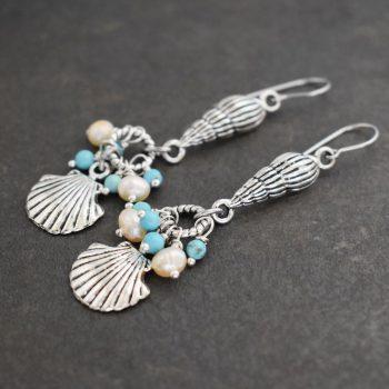 Mermaid Seashell Earrings