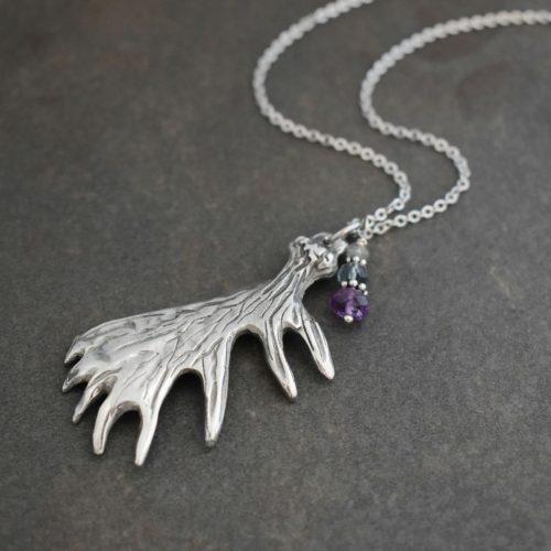 Moose antler jewelry
