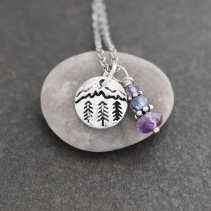 Mountain Necklace with amethyst