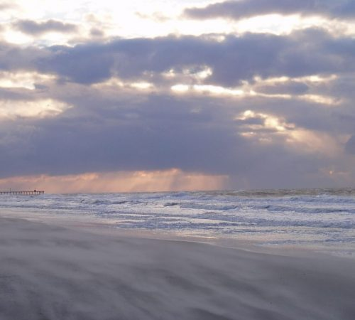 North Carolina Beach in winter