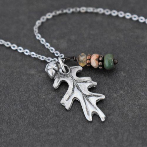 Acorn & Oak Leaf necklace