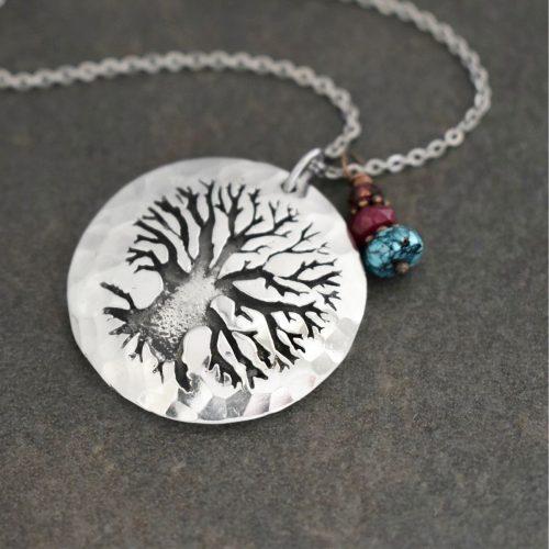 Oak tree pendant