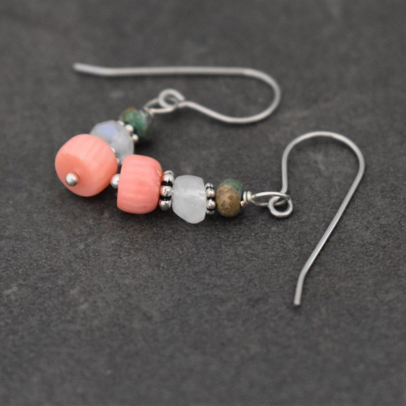 Pink Coral Earrings for summer