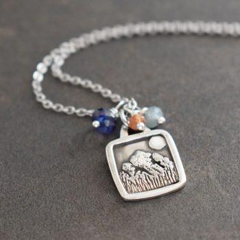 Silver Rocky Mountain Necklace