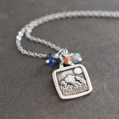 Silver Rocky Mountain Necklace