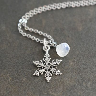 Sterling silver fancy snowflake necklace